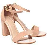 Shoe Lab Women Light Beige Block Heel
