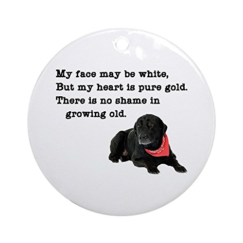 (CafePress Old Black Lab Ornament (Round) Round Holiday Christmas Ornament)