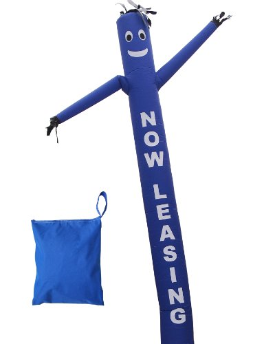 Lookourway Air Dancer Fly Guy Inflatable With Lettering  Now Leasing   20 Feet  Blue