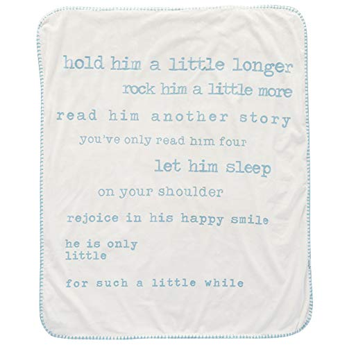 Mud Pie Plush Sherpa Baby Blanket Nursery Decor - Little Boys, Blue