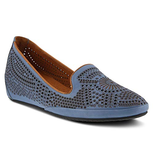 Spring Step Women's Shondra Leather Slip-on Shoe Denim ()