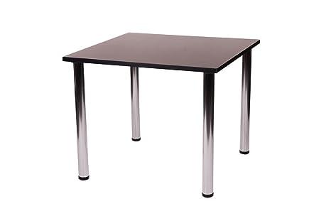 Fabian - Tavolo da cucina quadrato con 4 gambe cromate, metallo ...
