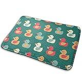 Stazary Colorful Ducklings Baby Animals Theme Soft Non Slip Absorbent Bath Rugs,Memory Foam Bath Mats Entrance Mat Floor Mat