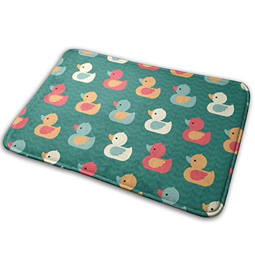 Stazary Colorful Ducklings Baby Animals Theme Soft Non Slip Absorbent Bath Rugs,Memory Foam Bath Mats Entrance Mat Floor Mat by Stazary