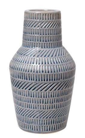 Hosley 9 Inch High Decorative Blue Ceramic Bottle Vase Ideal Gift for Weddings Party Spa Reiki Meditation Settings O6 (Decorative Vases Blue)