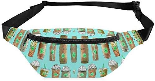 ブルーベリーのコーヒーカップラインナップ ウエストバッグ ショルダーバッグチェストバッグ ヒップバッグ 多機能 防水 軽量 スポーツアウトドアクロスボディバッグユニセックスピクニック小旅行