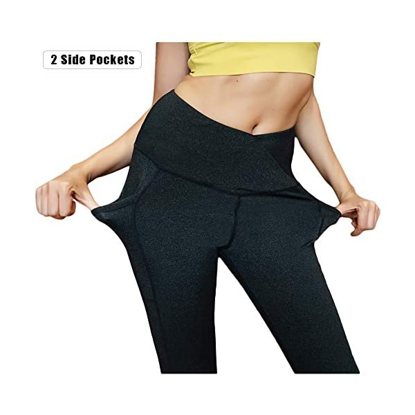 Astsw Yoga Pants For Women High Waist Leggings With Pockets Workout Gym Tummy Control