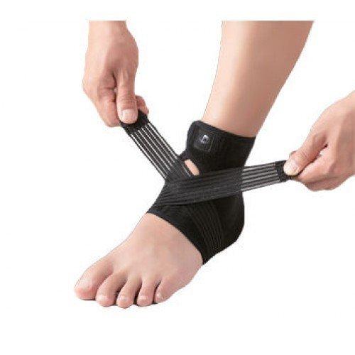 Phiten Ankle Brace Adjustable Lightweight Black Large by Phiten