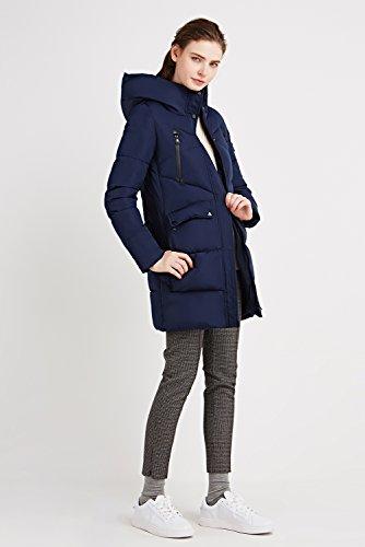 Invernali ICEbear Donna Lungo Donna Incappucciato blu Inverno Donna Abbigliamento Inverno Piumino Cappotto Giacca SrE5FxnSq