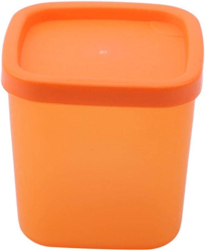 QAP Home - Caja de almacenamiento de plástico para refrigerador con tapa de sello, color naranja, caja de almacenamiento de cocina