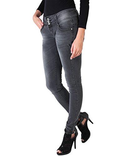 7443 Grau Jeans Denim Casual Pantaloni Krisp Donna Caldi q0f6xfYw