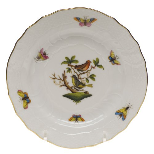 Herend China Rothschild Bird Bread and Butter Plate Motif 3
