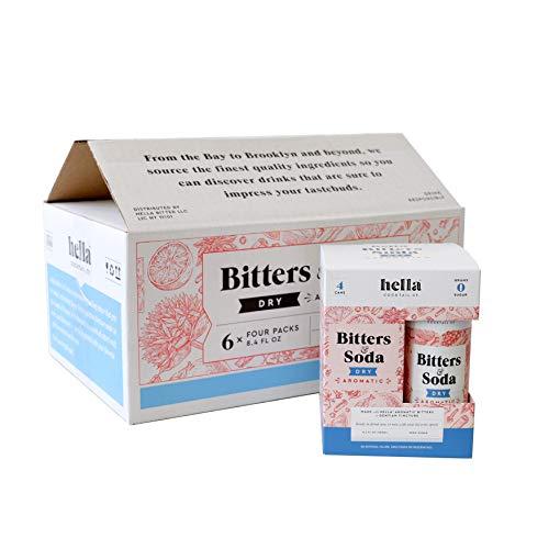 Hella Bitters & Soda Aromatic -- 1 Case (6 x 4-packs) (Dry Aromatic)