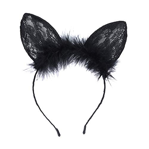 Headband, Starcy Sexy Black Cat Ears Headband Party Holiday Party Hoop from starcy Headwear