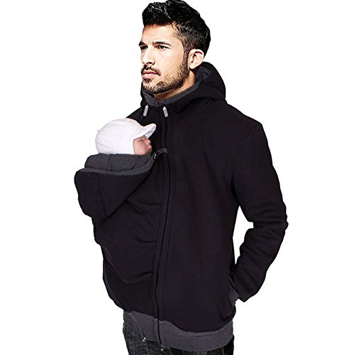 Men's Kangaroo Hoodie for Dad and Baby