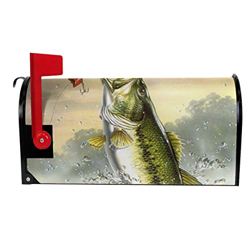 TARDIGA Largemouth Bass Bass Jumping Out of Water Mailbox Cover