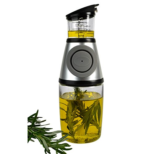 Artland Press and Measure Glass Herb with Patented Oil Infuser and Filter, 10 Ounce