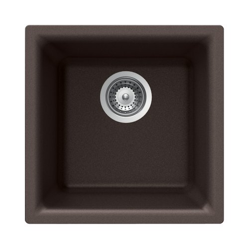 (Houzer EURO N-100 MOCHA Euro Series Undermount Granite Single Bowl Bar/Prep Sink, Mocha)