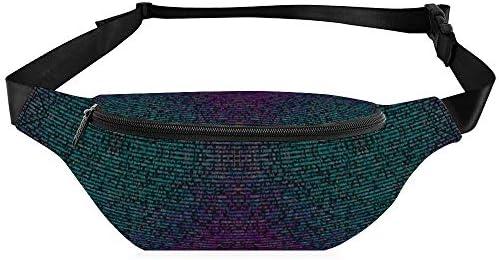 コンピュータークラッシュコードの色 ウエストバッグ ショルダーバッグチェストバッグ ヒップバッグ 多機能 防水 軽量 スポーツアウトドアクロスボディバッグユニセックスピクニック小旅行