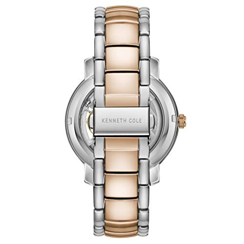 Kenneth Cole New York Mens Automatic Round Tt Silver/Gold Rose Stainless Steel Bracelet Watch