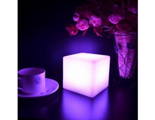 LED Light Cube 4 Inches - Night light lamp - Bar restaurant Table ()