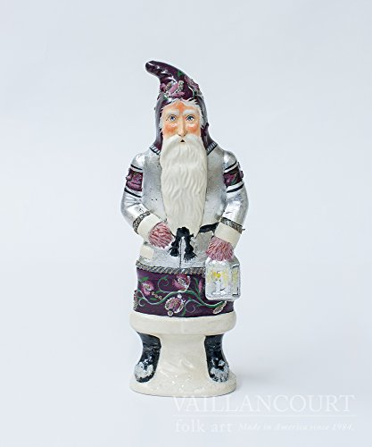 Vaillancourt Folk Art Father Christmas in Plum Silver for sale  Delivered anywhere in USA