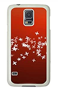 Red PC White Hard Case Cover Skin For Samsung Galaxy S5 I9600