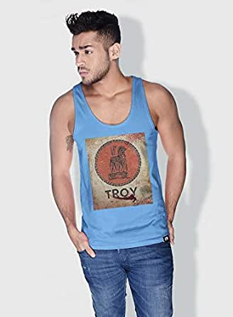 Creo Troy Movie Posters Tanks Tops For Men - S, Blue