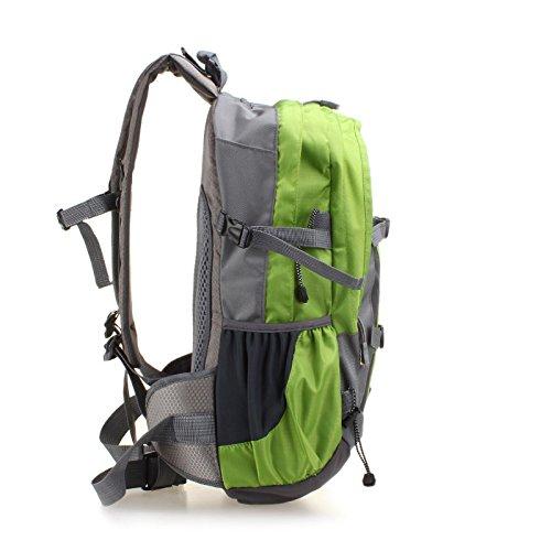 Mountaineering Bag Outdoor Männer und Frauen Schulter Rucksack nylon Wanderpackage wasserdichte Bergsteigen Taschen , rot