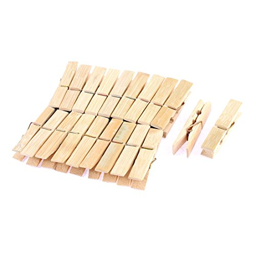 uxcell Wooden Photos Crafts Laundry Hanging Clothes Pins 60m