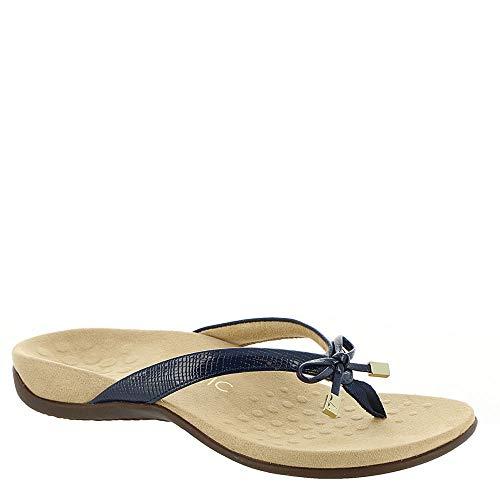 (Vionic Women's, Bella II Thong Sandal Navy Lizard 6 W)