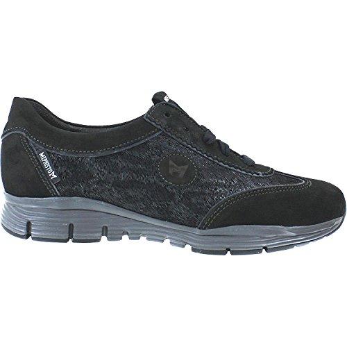 Mephisto Womens Lace - Mephisto Womens Yael Sneaker Black Bucksoft/Printe/Perl Calfskin Size 7