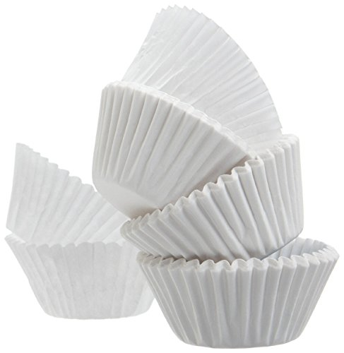 i Muffin Baking Paper Cups Cupcake Liners, White, 500 Count (White Mini Muffin)
