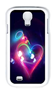 Samsung S4 Case,VUTTOO Stylish Halo Light Heart Hard Case For Samsung Galaxy S4 I9500 - PC White