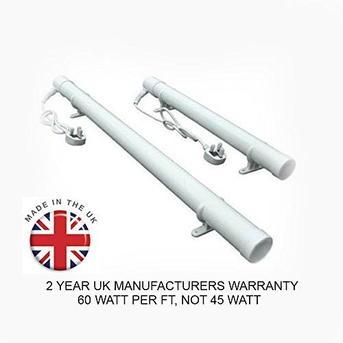 1ft Tube Heater | 60 Watts | Made in the UK | 2 Year UK Warranty | Ideal for Heating and Winter Frost Protection for your Greenhouse, Conservatory, Loft, Attic, Cellar, Basement, Garage, Caravan, Motorhome, Boat, Shed or Kennel