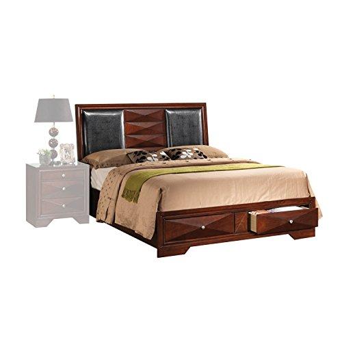 ACME Windsor Merlot Queen Bed with Storage