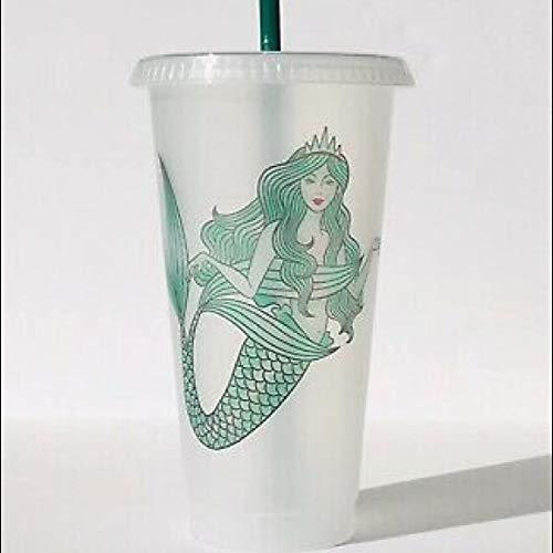 Starbucks Mermaid Reusable Plastic Cold Cup, 24 fl oz