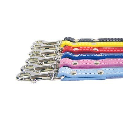 """Auburn Leathercrafters Dover Court Dog Lead Color: Pink, Size: 0.75"""" x 72"""""""