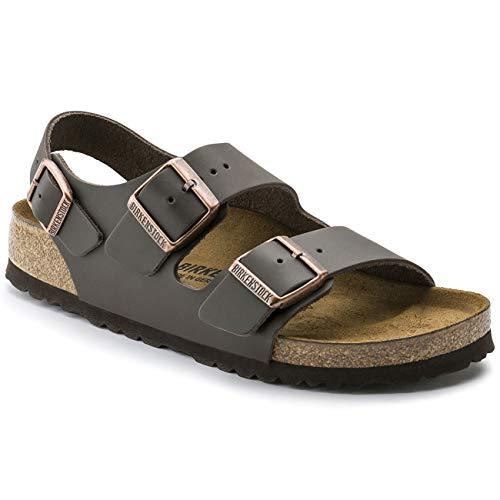 (Birkenstock 34101 Milano Leather Women's Sandals, Dark Brown, 41)