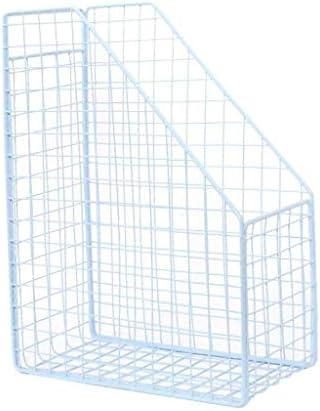 NMBD Bürozubehör Storage Basket Sakura LUN Schmiedeeisen Retro Office-Ordner Desktop Storage Rack-Creative-Bibliothek Data Box-Rack HUYP (Farbe: hellblau) (Color : Light Blue)