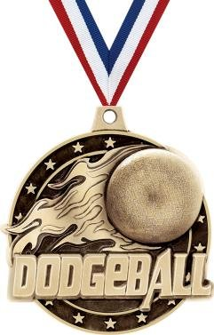 3d Diecast Medals - Crown Awards Gold Dodgeball Medals - 2