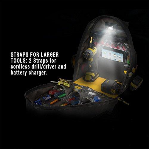 CLC Custom Leathercraft L255 Tech Gear 53 Pocket Lighted Back Pack by Custom Leathercraft (Image #6)