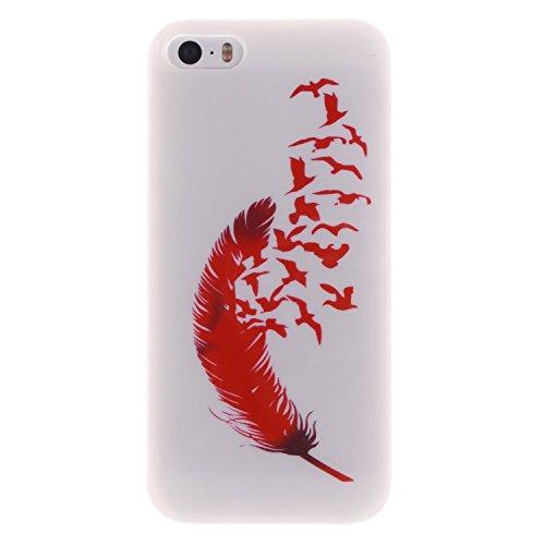 iPhone SE Hülle Silikon,iPhone SE Hülle Transparent,iPhone SE Hülle Glitzer,iPhone 5S Clear TPU Case Hülle Klare Ultradünne Silikon Gel Schutzhülle Durchsichtig Rückschale Etui für iPhone 5,iPhone 5S  Owl 11