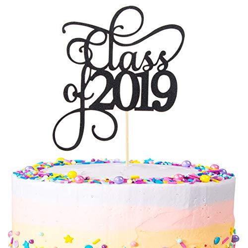 - Black Glitter Class of 2019 Cake Topper Party Decor 2019 Congrats Grad Photo Prop High School Graduation Celebration