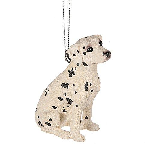 Dog Dalmatian Figurine (Sitting Dalmatian Dog 2 x 3 Inch Resin Christmas Ornament Figurine)