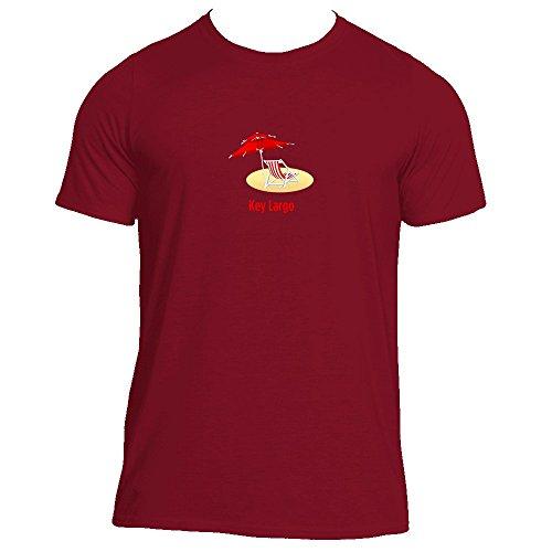Key Largo, Florida Beach Chair - Men's Athletic Moisture Wicking T-Shirt (Large, Cardinal)