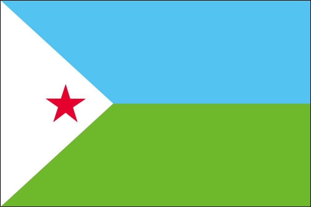 100 %品質保証 世界の国旗 ジブチ 国旗 国旗 B0090ZYL3I [120×180cm 高級テトロン製] B0090ZYL3I, ユニークジーンストア:a2a7ae2a --- vietnox.com