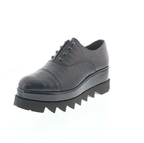 Zapatos Cult Mujer Zeppa piel negras Tachuelas negro