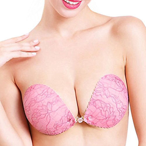 Tootu Women Sexy Strapless Instant Breast Lift Invisible Silicone Push Up Bra (D, - Goggles Strapless