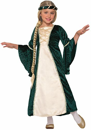 Forum Novelties Kids Lady of Sherwood Costume, Green, Medium